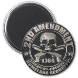 2nd Amendment Medal 2 Inch Round Magnet