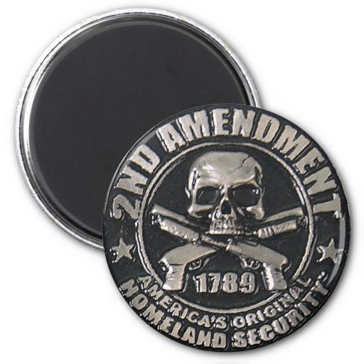 2nd Amendment Medal 2 Inch Round Magnet
