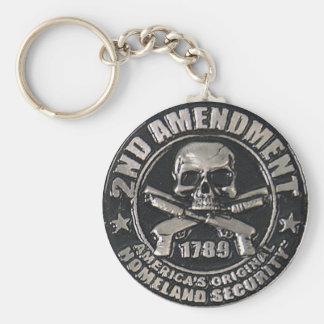 2nd Amendment Medal Basic Round Button Keychain