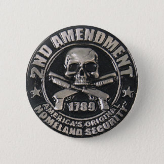 2nd Amendment Medal Button