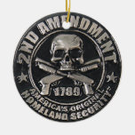2nd Amendment Medal Double-Sided Ceramic Round Christmas Ornament