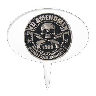 2nd Amendment Medal Oval Cake Topper