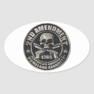 2nd Amendment Medal Oval Sticker