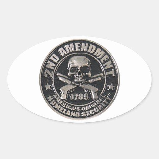 2nd Amendment Medal Oval Sticker