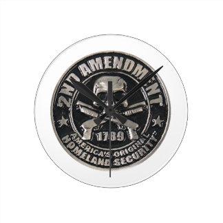 2nd Amendment Medal.png Round Wall Clocks