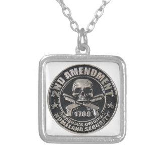 2nd Amendment Medal.png Square Pendant Necklace