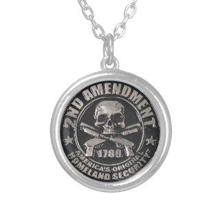 2nd Amendment Medal Round Pendant Necklace