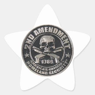 2nd Amendment Medal Star Sticker