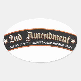 2nd amendment oval sticker