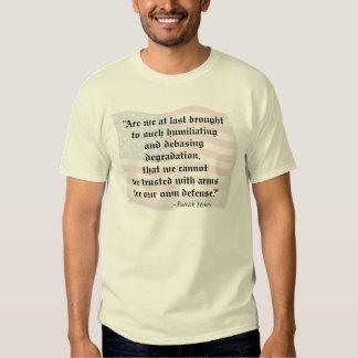 2nd Amendment Patrick Henry Quote T-shirt