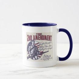 2nd Amendment Pro Guns Shirts and Gifts Mug
