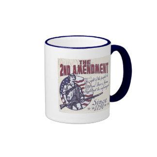 2nd Amendment Pro Guns Shirts and Gifts Ringer Mug