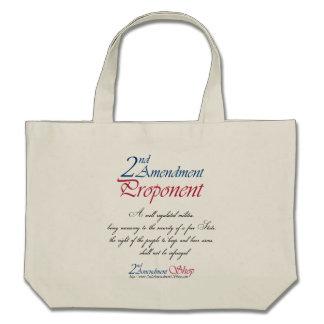 2nd Amendment Proponent totes Canvas Bags