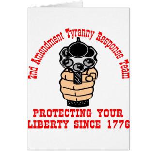 2nd Amendment Protecting Liberty Since 1776 Greeting Card