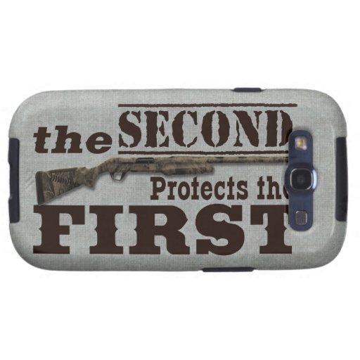 2nd Amendment Protects 1st Amendment Samsung Galaxy SIII Cases