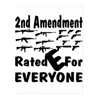 2nd Amendment Rated E For Everyone Postcard