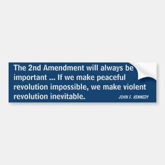 2nd Amendment Revolution (Kennedy) Car Bumper Sticker