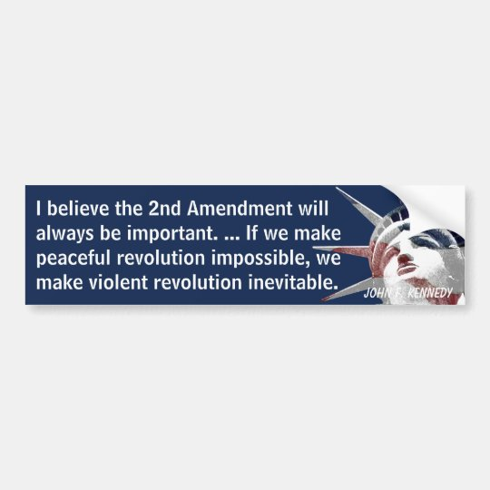 2nd Amendment Revolution (Kennedy) Bumper Sticker