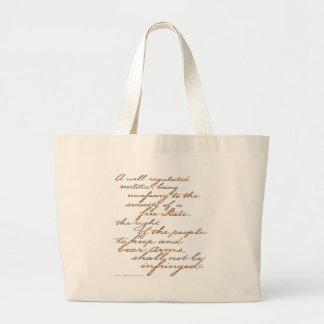 2nd amendment script canvas bags