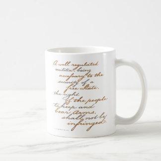 2nd amendment script coffee mug