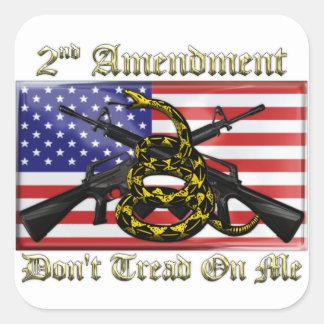 2nd Amendment Square Sticker
