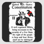 2nd Amendment Square Stickers