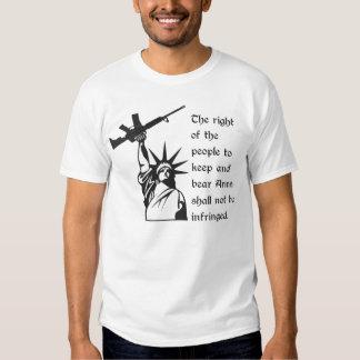 2nd Amendment Statue of Liberty with AR15 Shirt