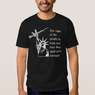 2nd Amendment Statue of Liberty with AR15 Tee Shirt