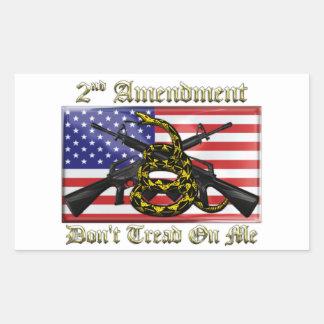 2nd Amendment Rectangular Sticker