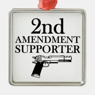 2nd AMENDMENT SUPPORTER - gun rights/constitution Metal Ornament