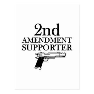 2nd AMENDMENT SUPPORTER - gun rights/constitution Postcard