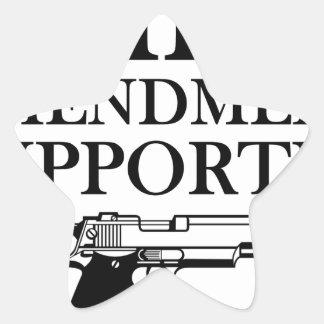 2nd AMENDMENT SUPPORTER - gun rights/constitution Star Sticker