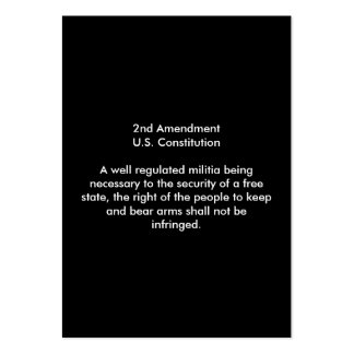 2nd Amendment - United States Constitution Large Business Card