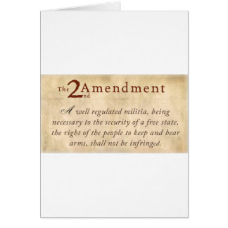 2nd Amendment Vintage Greeting Card