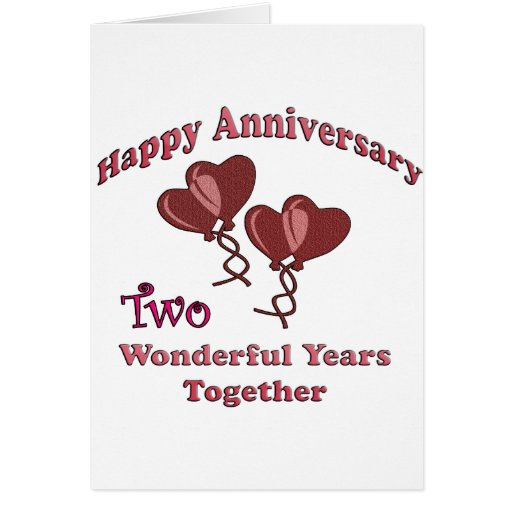 2nd Anniversary Greeting Card Zazzle