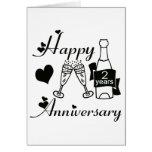 2nd. Anniversary Greeting Card