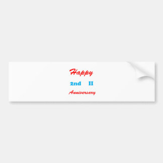 2nd ANNIVERSARY Greetings n Magnet Gifts LOWPRICES Bumper Sticker