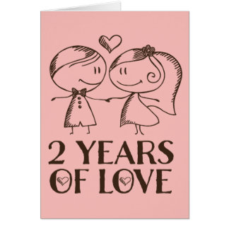 2 year anniversary cards zazzle