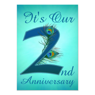 2nd Anniversary invitation number 2