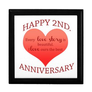2nd. Anniversary Jewelry Box