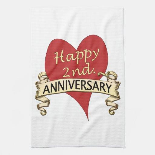 Nd anniversary kitchen towels zazzle