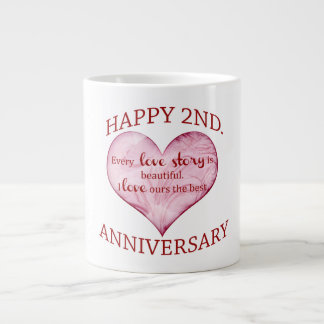 2nd. Anniversary Large Coffee Mug