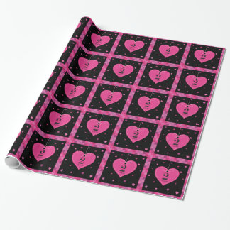 2nd Anniversary Love Heart Wrapping Paper