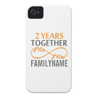 2nd Anniversary Mr. & Mrs Infinity Personalized iPhone 4 Cover