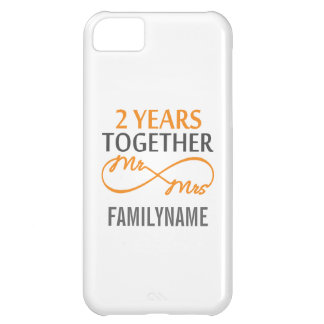 2nd Anniversary Mr. & Mrs Infinity Personalized iPhone 5C Covers