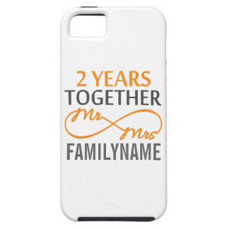 2nd Anniversary Mr. & Mrs Infinity Personalized iPhone SE/5/5s Case