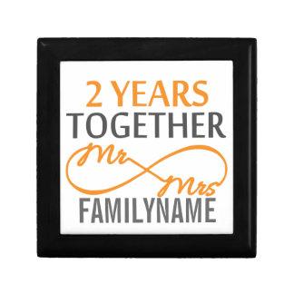 2nd Anniversary Mr. & Mrs Infinity Personalized Keepsake Box
