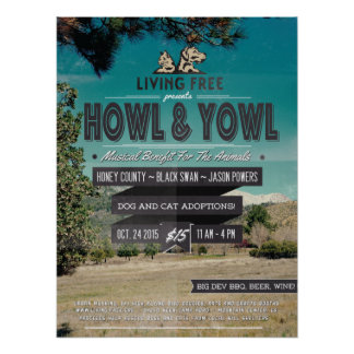 """2nd Annual """"Howl & Yowl"""" Benefit For The Animals Poster"""