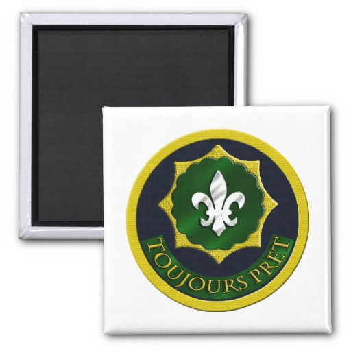 2nd Armored Calvary Regiment 2 Inch Square Magnet