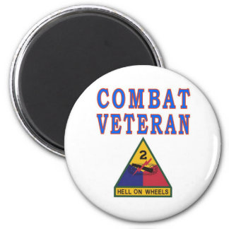 2nd ARMORED DIVISION 2 Inch Round Magnet